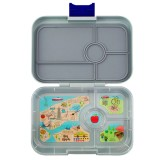 YumBox Tapas Lunch Box 4 Compartment - Flat Iron Grey