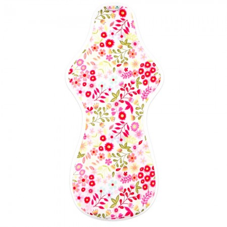 Hannahpad Ultra Overnight Cloth Pad - Flower Garden Pink