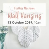 Buy 'Feather Macrame Wall Hanging' by Knotting Naked Sun October 13 Brisbane Workshop