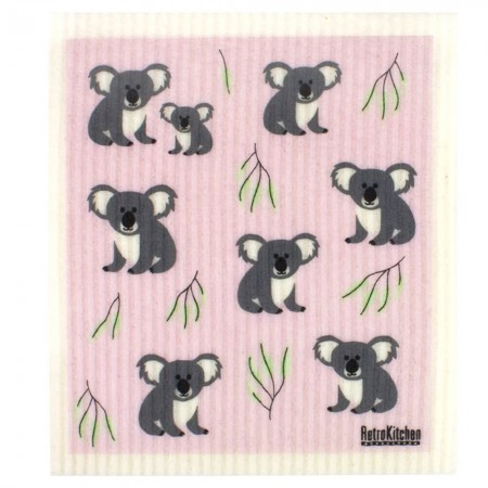 Swedish Dish Sponge Cloth - Koala & Gum Leaves