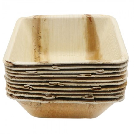 Palm Leaf Small Bowl 10pk - Square