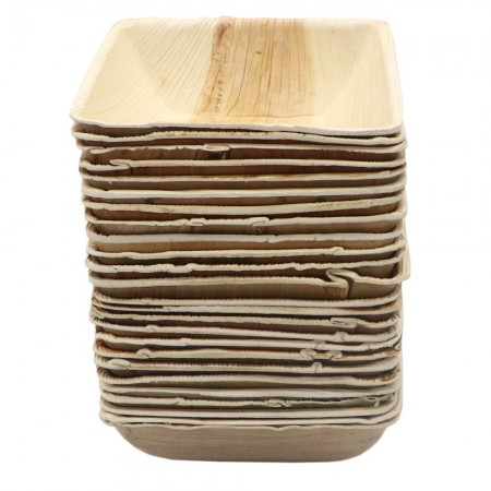 Palm Leaf Small Bowl 25pk - Square