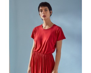 Kowtow Short Sleeve Dancer Dress Poppy