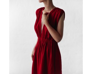 Seaside Tones Column Dress Red