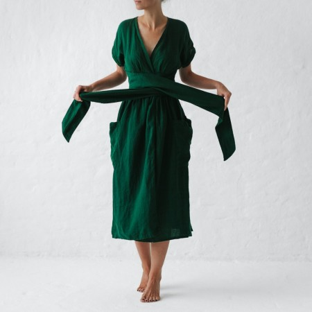 Seaside Tones Kimono Dress Green M