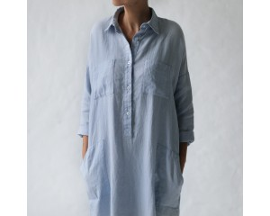Seaside Tones Shirt Dress Blue