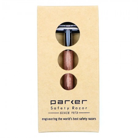 Parker 29L Women's Safety Razor - Rose Gold (plus 2 x free chrome blade packs)