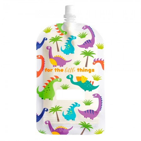Sinchies Reusable Pouches 200ml (10 pack) - Dinosaur