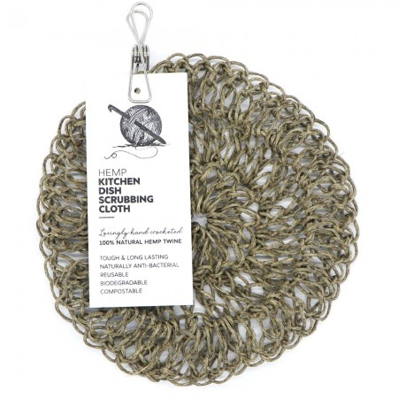 Knotting Naked Hemp Kitchen Dish Scrubber - Large
