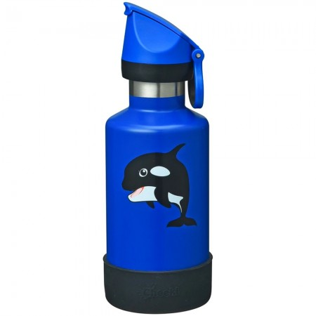 Cheeki Kids Insulated Water Bottle 400ml - Oska the Orca