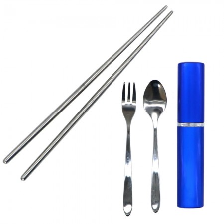 Buy Onyx 3 Piece Cutlery Set - blue