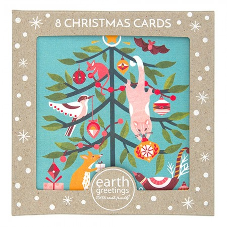 Earth Greetings Christmas Card 8pk - Festive Frolic