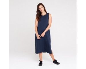 Dorsu Relaxed Tank Dress - Navy
