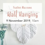 Buy 'Feather Macrame Wall Hanging' by Knotting Naked Sat November 9 Brisbane Workshop