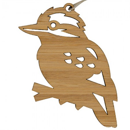 Earth Greetings Bamboo Decoration - Laughing Kookaburra