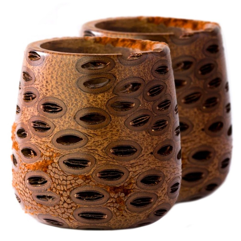 Banksia Tealight Votives (Set of 2) + 2 Beeswax Candles
