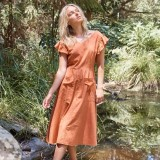 Torju Summer Lovin Dress Orange