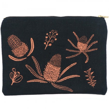 One Thousand Lines Pouch - Copper Banksia