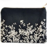 One Thousand Lines Flat Pouch - Black Pods
