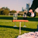 Winestains Wine Glass Travel Stake - Two Glass Holder