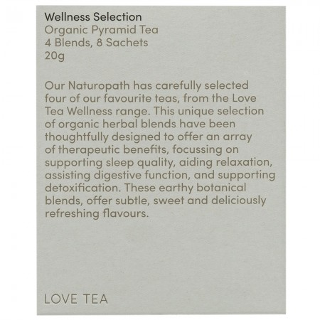 Love Tea Organic Tea Bags Sampler 20g (8pk) - Wellness Selection