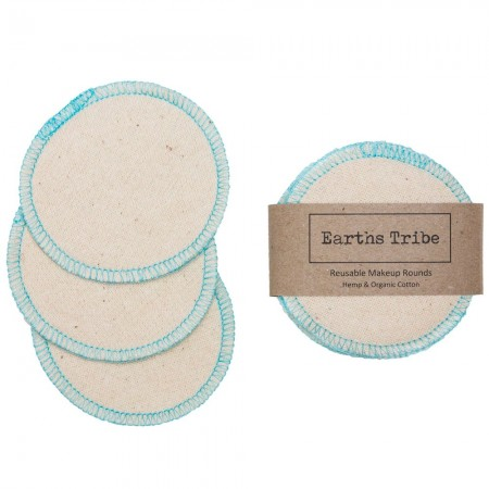Earths Tribe Hemp & Organic Cotton Reusable Makeup Rounds 10pk