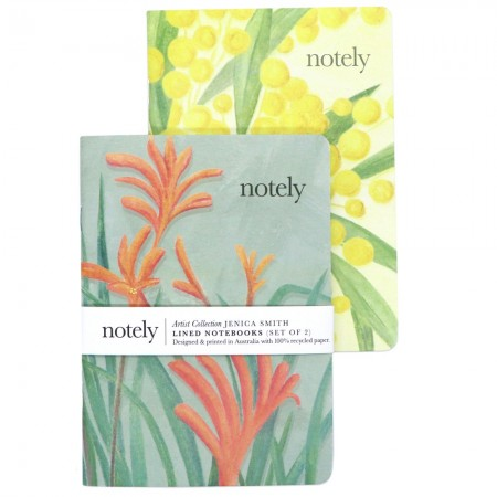 Notely Lined Pocket Notebook Set A6 - Australian Natives