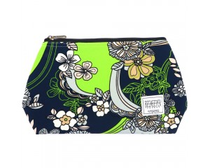 Beekeeper Parade Makeup Bag Large Lime Green Floral