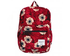 Beekeeper Parade Royal Backpack Red Summer Flower