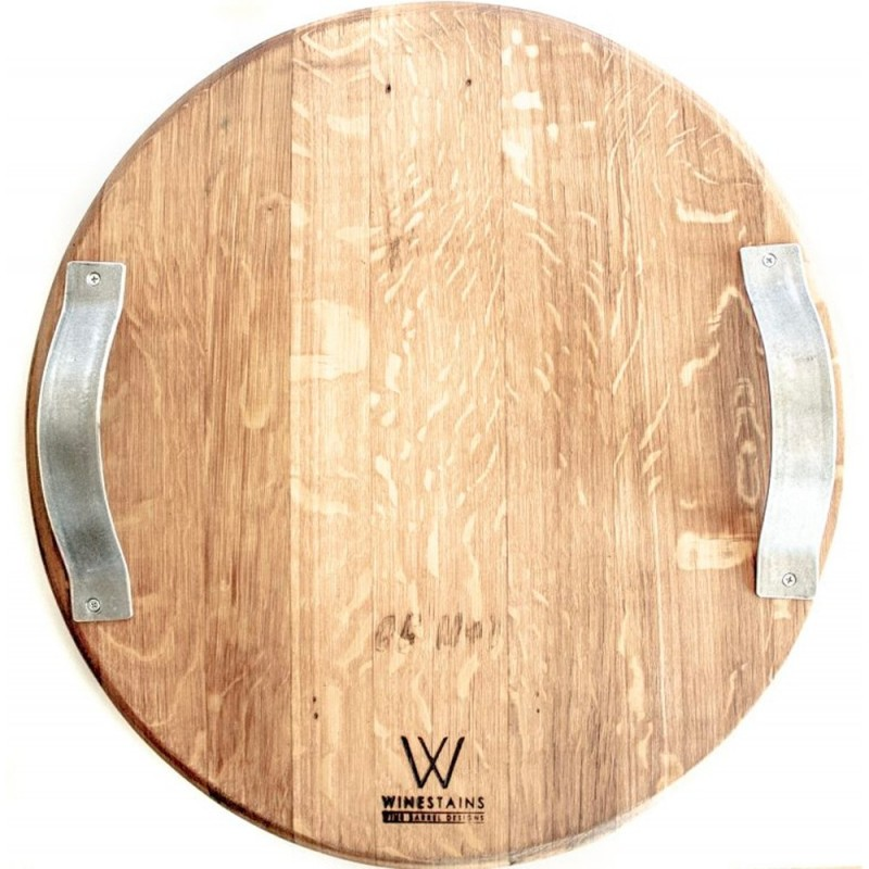 Winestains Large Circular Cheese Platter with Handles