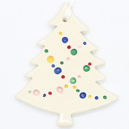 Kylie Johnson Ceramic Christmas Decoration - Tree 'Party Lights'