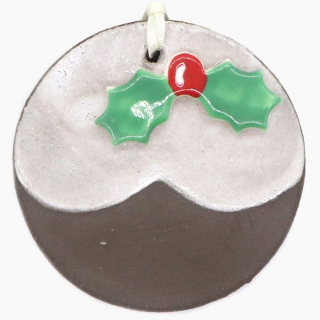 Kylie Johnson Ceramic Christmas Decoration - Pudding