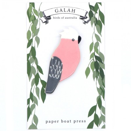 Paper Boat Press Birds of Australia Ceramic Magnet - Galah