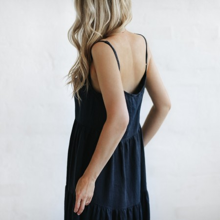 Seaside Tones Strap Dress Navy