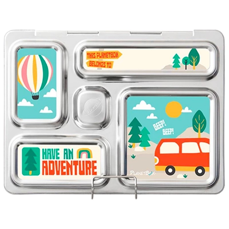 PlanetBox Rover Kit ADVENTURE (Box, Containers, Magnets, Carry Bag)
