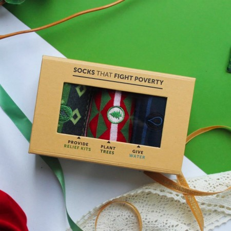 Men's Sock Collection - Holiday Relief Kits, Trees, Water