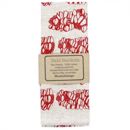 Mutska Linen Tea Towel - Bald Banksia