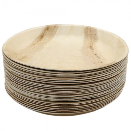 Palm Leaf Small Plate 25pk - Round