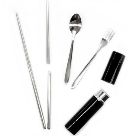 Onyx 3 Piece Stainless Steel Cutlery Set - Black