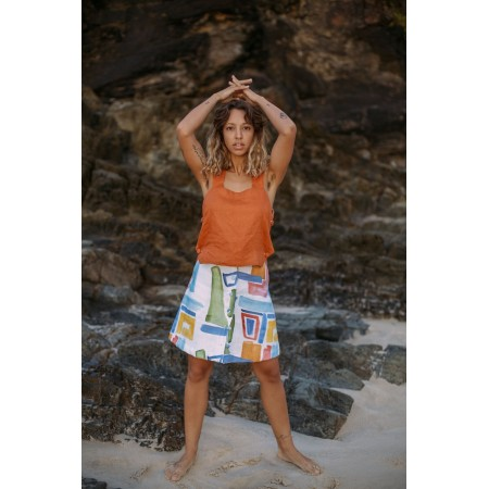 Cor Clothes Do Mar Reversible Top - Laranja