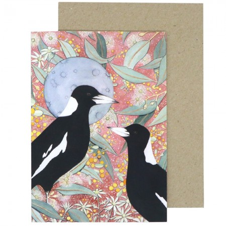 Ingrid Bartkowiak Art Card - Magpie Moon