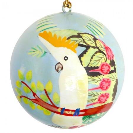 Fair Trade Australiana Christmas Bauble - Cockatoo
