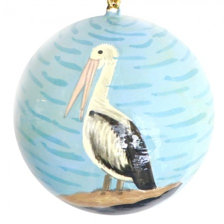 Fair Trade Australiana Christmas Bauble - Pelican