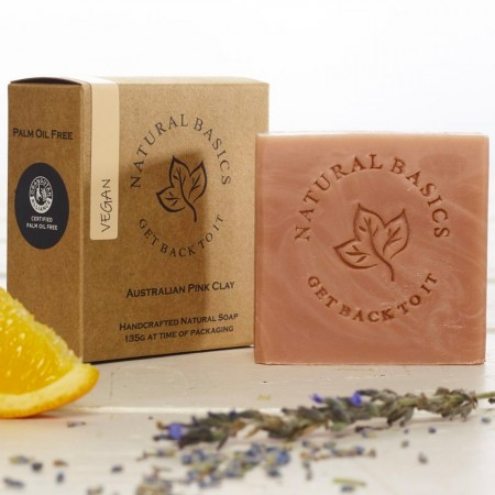 Natural Basics Handcrafted Facial Soap 135g - Australian Pink Clay