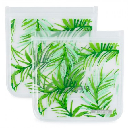 Full Circle ZipTuck Reusable Sandwich Bags 2pk - Palms