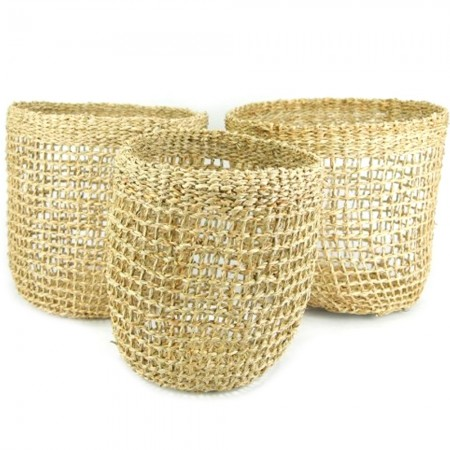 Seagrass Storage Baskets Set of 3 - Morgan