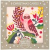 Earth Greetings Christmas Card 8pk - Owl + Mistletoe