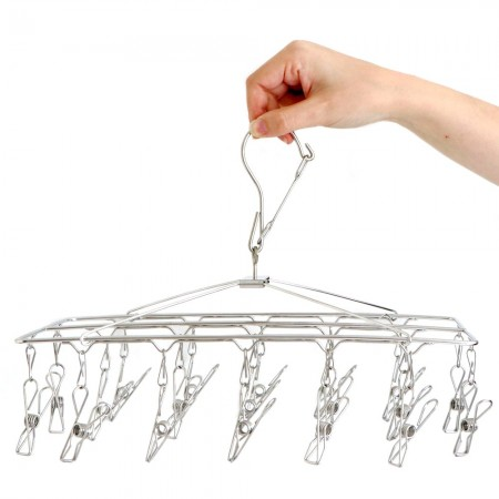 Stainless Steel Sock Hanger 201S Grade with 19 Pegs