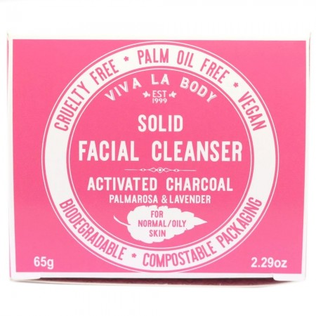 Viva La Body Solid Facial Cleanser - Activated Charcoal (Normal/Oily)