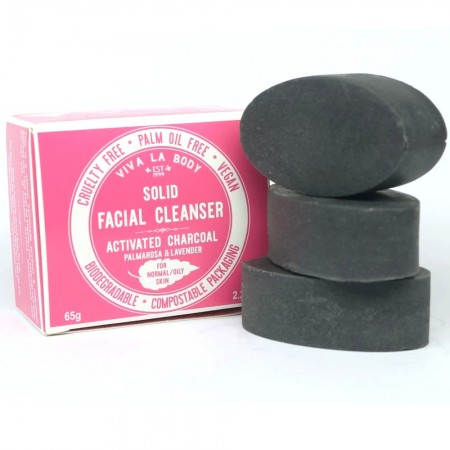 LAST CHANCE! Viva La Body Solid Facial Cleanser - Activated Charcoal (Normal/Oily)